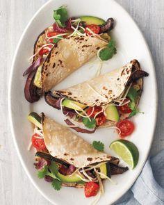 portobello and zucchini tacos + 9 other delicious vegetarian taco recipes.