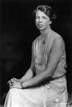 Anna Eleanor Roosevelt (October 11, 1884 — November 7, 1962) was the longest-serving First Lady of the United States, from 1933 to 1945 during her husband Franklin D. Roosevelt's four terms in office. She was the first presidential spouse to hold press conferences and speak at a national convention. She advocated for expanded roles for women in the workplace, the civil rights of African Americans and Asian Americans, and the rights of World War II refugees.