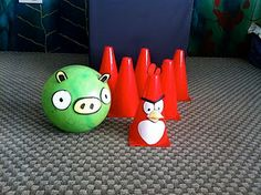 the game, bird parti, bird birthday, birthday parties, bird party, birthday party games, bowling pins, parti idea, angri bird