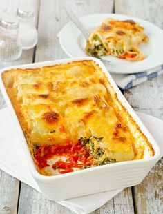 Cannelloni Filled with Ricotta and Spinach