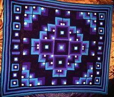 Mandala Geometric Crochet Blanket - Free Pattern