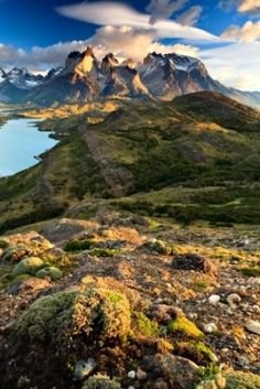Torres del paine national park in Patagonia chile