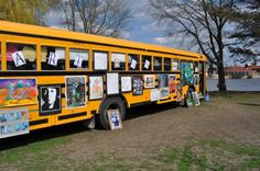 Art on a Bus?!  This step by step tutorial will show you how to transform the average school bus into the most unique art gallery you have ever seen! Something students and community members will never forget!