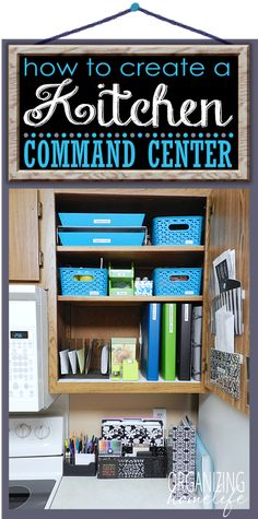 How to Create a Kitchen Command Center Part 2 ~ Organize Your Kitchen Frugally Day 20 | Organizing Homelife