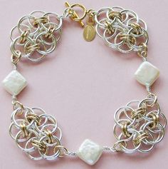 chainmaille | Pearl Chainmaille Bracelet | Flickr - Photo Sharing!