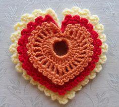 Lacy Little Hearts pattern ~ by Daniela Herbertz