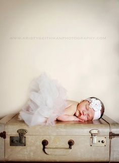 Ivory and blush pink newborn sewn tutu and by TutusChicBoutique, $75.00