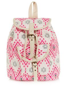 hot pink and gray backpack