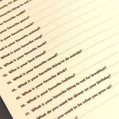 Birthday memory book-ask kids the same questions every year to see how they have changed.