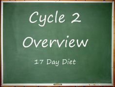 A Beginners Guide and Overview of Cycle 2 of the 17 Day Diet #17DayDiet