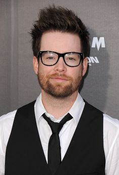 David Cook in his hipster glasses. No, he doesn't wear glasses.
