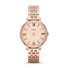 Fossil Jacqueline Three-Hand Stainless Steel Watch - Rose ES3435 | FOSSIL®