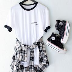 "Heartbreaker Tee <a class=""pintag"" href=""/explore/ootd/"" title=""#ootd explore Pinterest"">#ootd</a> Not loving the shoes tbh"