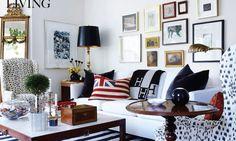 Hermes Giant Avalon Blanket.     Room designed by Tommy Smythe.