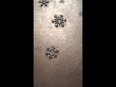 Let It Snow: Video showing my new holiday mantelscape... with bleached and glittered bottlebrush trees, and a painted canvas that lights up! Post has a tutorial on how to do it yourself.