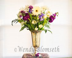 Spring Floral Bouquet on High Key White