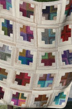 Mitered crosses quilt