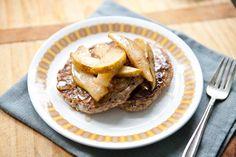 Whole Grain Pancakes with Warm Cinnamon Pears | Megan Gordon