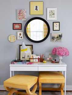 How-to Wall Art Displays! Get more colorful ideas here: http://www.bhg.com/decorating/do-it-yourself/diy-color/#page=2