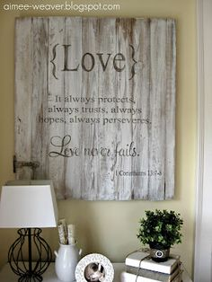 Love sign - DIY!
