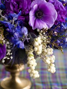gorgeous purple floral design