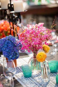 Bright & colorful centerpieces! {Dino Gomez}