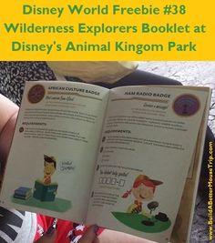 Disney World Freebie #38. Get a free Wilderness Explorers Field Guide (activity booklet) and earn free stickers with Wilderness Explorers at Disney's Animal Kingdom. For more freebies, see: http://www.buildabettermousetrip.com/disney-freebies/ #DisneyFreebie #AnimalKingdom #Up