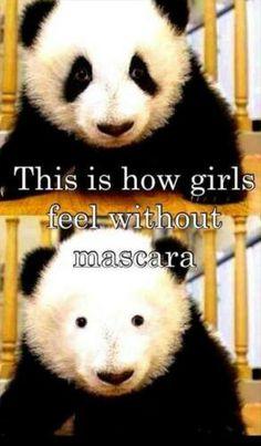 laugh, mascaras, makeup, funni, humor, eye liner, pandas, true stories, eyes