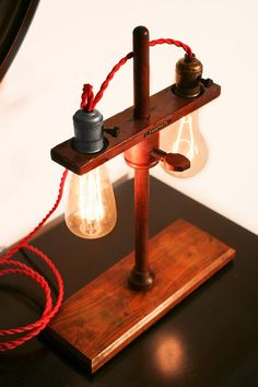 Vintage Edison Laboratory Stand Table Lamp by VintageLightCompany, $175.00