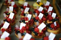 Poppy & Sebastian tarts. So pretty and tasty.  Each tart actually has a pipette of raspberry coulis on it. Brilliant idea.