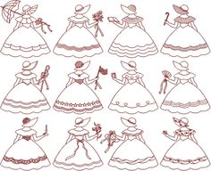 I adore redwork and Sunbonnet Sue.