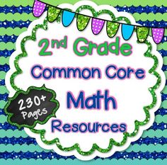 In this HUGE 230+ page bundle, you will receive a zip file that contains EVERY 2nd Grade Common Core Math resource in my store! This includes my Story Problems Bundle (Best Seller!), Assessments for ALL Standards, a bundle filled with array activities….. and so much more!