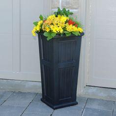 tall planter, garage doors, patio, outdoor decor, planters, outdoor idea, front deck, black, cape cod