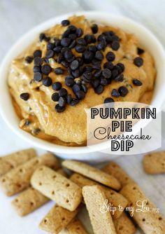 Pumpkin Pie Cheesecake Dip via @Skip Bronkie Bronkie Bronkie to my Lou. So yum!