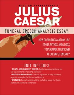 julius caesar speeches essay Comparing the speeches of mark antony and brutus in julius caesar the play 'julius caesar' was first performed in 1599 at the globe theatre in london the globe theatre was built earlier that year and 'julius caesar' was one of the first plays performed there.