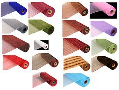 10 in Wide x 30 ft Long Roll Deco Mesh Fabric Ribbon Runner Craft Wedding Party | eBay