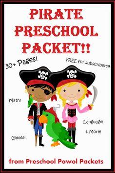 Free Pirate Preschool Pack