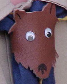 Wolf neckerchief slide craft