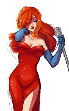 anim, bad girl, charact, rabbits, disney redhead, disney jessica, comic art, artjessica rabbit, redhead cartoon