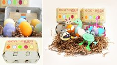 i just love the packaging design on this Eco-Eggs Coloring Kit. by Eco-Kids