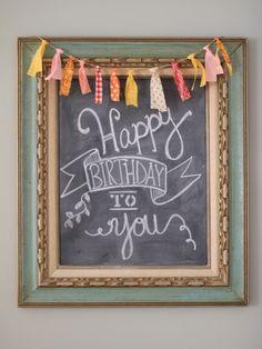 Happy Birthday Chalk
