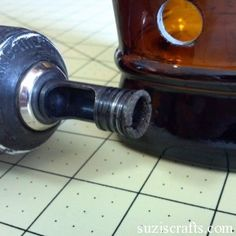How to cut holes into glass bottles.