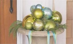 Watch Christmas Urn with Ornaments in the Better Homes and Gardens Video