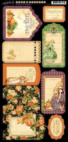 Awesome new cardstock Tags & Pockets from Graphic 45's new collection, An Erie Tale!