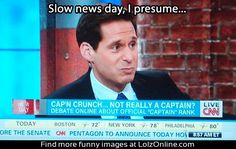 news debate Captain Crunch