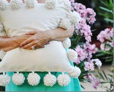 DIY Pom Pom Trim Pillow