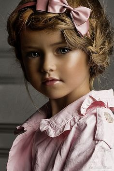Like a living DOLL...Russian model, Kristina Pimenova...Beautiful People In Our Amazing World!~♥ yes, bu't WHY all the heavy face make-up ???
