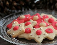 Colored Roll-out Sugar Cookies (Christmas Stars)