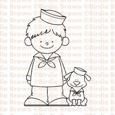 sailor boy, digit stamp, digital stamps, puppi