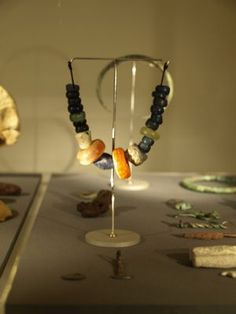 Beads in the National Museum of Iceland. Viking Age.